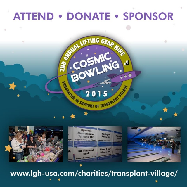 LGH Will Host 2nd Annual Cosmic Bowling Fundraiser / Wire Rope Exchange