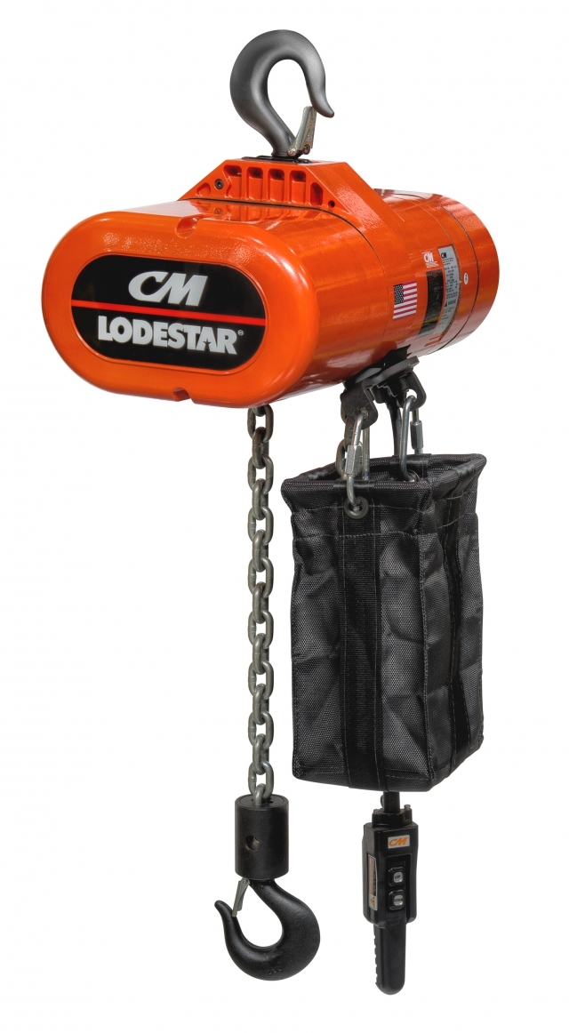 cm lodestar electric chain hoist now offered as economical. Black Bedroom Furniture Sets. Home Design Ideas